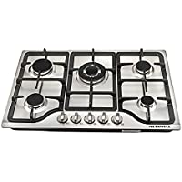 METAWELL New 30 Stainless Steel 5 Burner Built-in Stoves Natural Gas Hob Cooktops Cooker