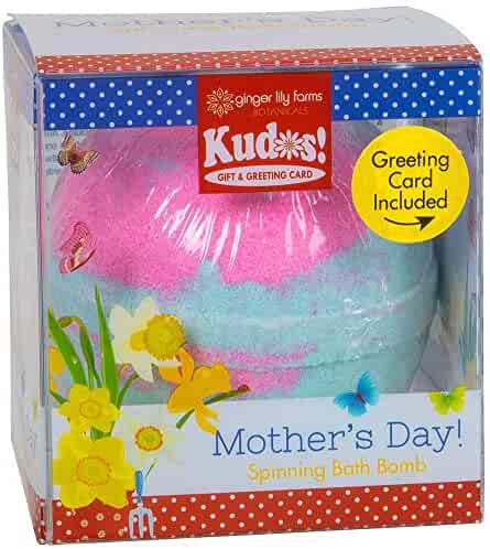 Ginger Lily Farms Botanicals Kudos! mother's day, butterfly, spinning bath bomb and greeting card