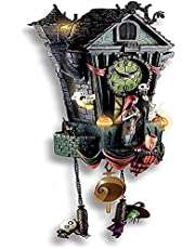 The Nightmare Before Christmas Cuckoo Clock,Cuckoo Wall Clock,Christmas Decoration Clock,Halloween Craft Resin Ornaments