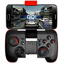 GEEKLIN Bluetooth Game Controller with Vibration(Have the telescopic bracket),Wireless Gamepad