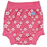 Splash About Kid's Reusable Swim Happy Nappy - Pink Blossom, 2X-Large by Splash About