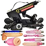 Upgrade Massage Machine Gun with 7 Toys Telescopic Distance 6cm, Speed Up to 350r/Min, Automatic Stretching Adult Machine