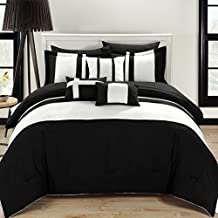 Chic Home 10-Piece Fiesta Bed-In-A-Bag Comforter Set, King, Black