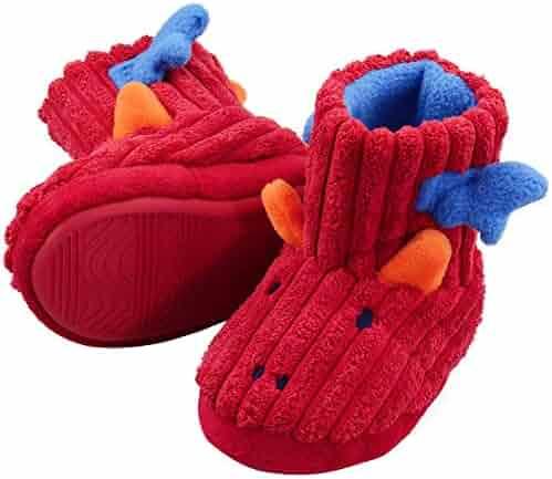 a4bd04c2e VLLY Kids' Cute Cotton Bear Warm Soft Anti-Slip Indoor Outdoor Slippers
