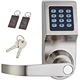 HAIFUAN Digital Door Lock,Unlock with M1 Card, Code and Key,Default for Left Hand Orientation