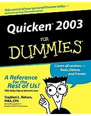 Quicken 2003 For Dummies