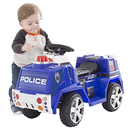 Ride on toy police truck for kids battery powered ride for Motorized ride on toys for 5 year olds