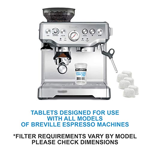 Breville Espresso Machine Cleaning Tablets and Filters - 2 Gram Espresso Cleaning Tablets - Replacement Water Filter - Espresso Machine Cleaner Accessories by CleanEspresso (20 Tablets + 6 Filters)