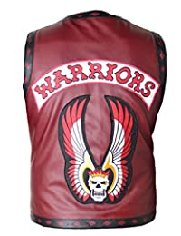 The Warriors Biker Hand-Stitched Vest for Men in Faux Leather NY Gangster Swan and Ajax