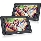 "NAVISKAUTO 10.1"" Portable DVD Player Dual Screen Car Headrest for Kids with USB/SD Card Reader and 5 Hours Rechargeable Battery (Dual Screen DVD Player)"