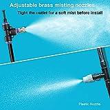 Tesmotor Misting System for Cooling, 26FT Misting