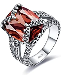 Antique Style Womens 925 Sterling Silver Created Mystic Rainbow Topaz Split Shank Band Ring