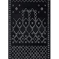 Farmhouse Rug 319 Black distressed vintage style new area rug large boho (2 x 7  hallway runner)