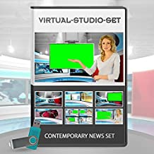 HD Contemporary Studio Set - News Production Background Kit