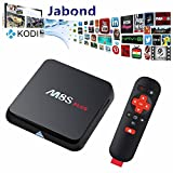 Jabond M8S Plus Android TV Box Amlogic S812 Quad Core 3D Blu-ray 2G RAM 16G ROM Bluetooth 4.0 Dual 2.4G/5G Streaming Media Player with Full Loaded KODI