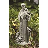 Etonnant St. Francis With Cross And Animals Stone Indoor/Outdoor Garden Statue