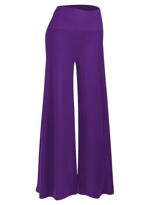 Purple Arrisol Women's High Waist Plus Size Casual Work Pants