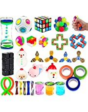 32 Pack Sensory Fidget Toys Set Stress Relief Kits for Kids Adults,Christmas Stocking Stuffers,School Classroom Rewards,Birthday Party Favor,Carnival Treasure Box Prizes, Pinata Goodie Bag Fillers