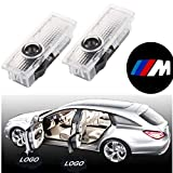 4 pack - Jennyshop Car Door Projector Lights Auto Courtesy Welcome Logo Shadow Lamp for BMW 3 5 6 7 Series With/m Logo