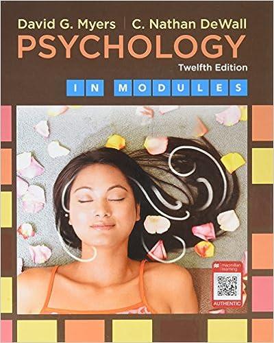 Psychology in Modules, 12th Edition - Original PDF