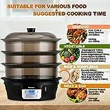 COSTWAY Food Steamer Vegetable Steamer 3 Tier
