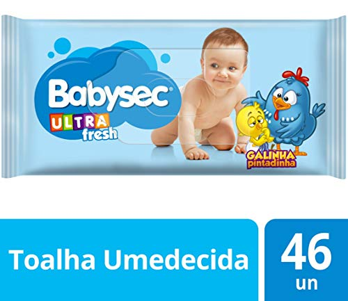 Toalha Umed Babysec Galinha Pintadinha Ultrafresh 46 Unids, Babysec