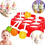 JeVenis Mini Pop Molds Silicone Popsicle Ice Cream Maker Candy Chocolate Mold Ice Cream Mold for Baby Kid Children