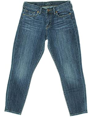 Womens Sofia Denim Mid-Rise Cropped Jeans Blue 4