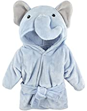 Hudson Baby Animal Plush Bathrobe, Azul Elephant, 0-9 meses