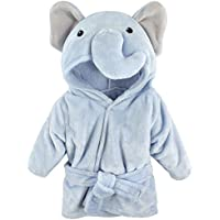 Hudson Baby Animal Plush Bathrobe, Blue Elephant, 0-9 Months