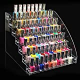 Nail polish display, 6 Types Durable Nail Polish Acrylic Clear Makeup Display Stand Rack Organizer Holder (7 Layers)