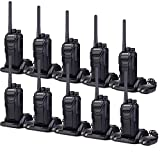 Retevis RT27 Walkie Talkie Rechargeable Portable Two-Way Radios CTCSS DCS Handheld Radio with VOX Scan Function (Black, 10 Pack)