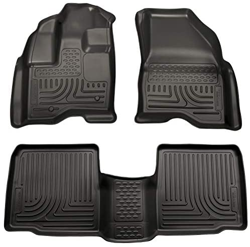 Husky Liners 98761 Fits 2011-14 Ford Explorer Weatherbeater Front & 2nd Seat Floor Mats, Black