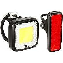 KNOG Blinder Mob Mr Chips Front Bike Light & Mob V Mr Chips Rear Tail Light Kit, Waterproof, USB Rechargeable