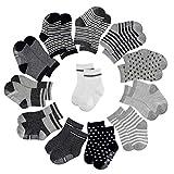 baotongle 12 pcs Skid Baby Socks-Have Anti Skid Particles Baby Socks 12-36 Months
