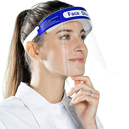 50PCS Made in USA Plastic Face Shields - Personal Protective Equipment Safety Gear