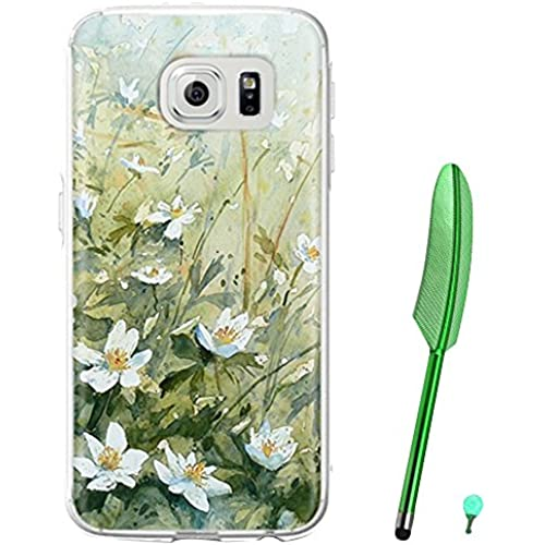Happy Hours - Fashion Style Colorful Painted Hard PC Protective Case Cover for Samsung Galaxy S7 with Feather Stylus and Luminous Dust Plug(Cute Flower) Sales