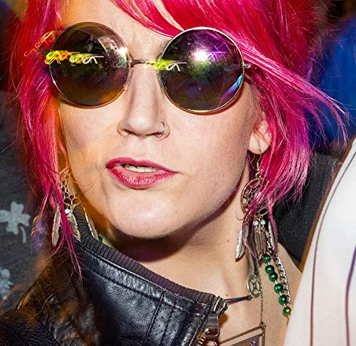 Home Comforts Framed Art for Your Wall Girl Pink Hair Hippie Sunglasses Punk Vivid Imagery 10 x 13 Frame