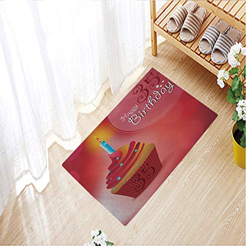 Nordic Carpets Crystal velvet 3D Printed Outdoor Mat Anti-slip for House Door Mat,19.7