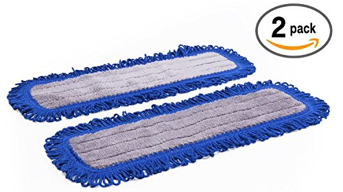 18'' Mojave Microfiber Dust Mop Pads - 2 Pack | Use with our 18'' Professional Microfiber Mop | by Microfiber Wholesale