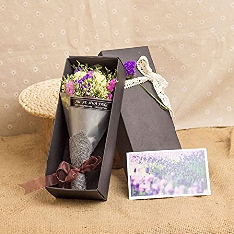 Dried Flower Bouquet Gift Box/Stars Forget Me Not Flower Gift Box/ Birthday Gift-I - Dried Flower Shop