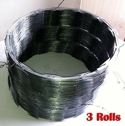 Razor Wire Razor Ribbon Barbed Wire 18'' 3 Coils 50 Feet Per Roll by Fence America
