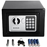 ROVSUN 0.17CF Digital Security Safe Box Small Electronic Cabinet with Combination Lock &Solid Steel Construction, Great for Home Office Hotel Business Jewelry Money Passport, with Battery Gift