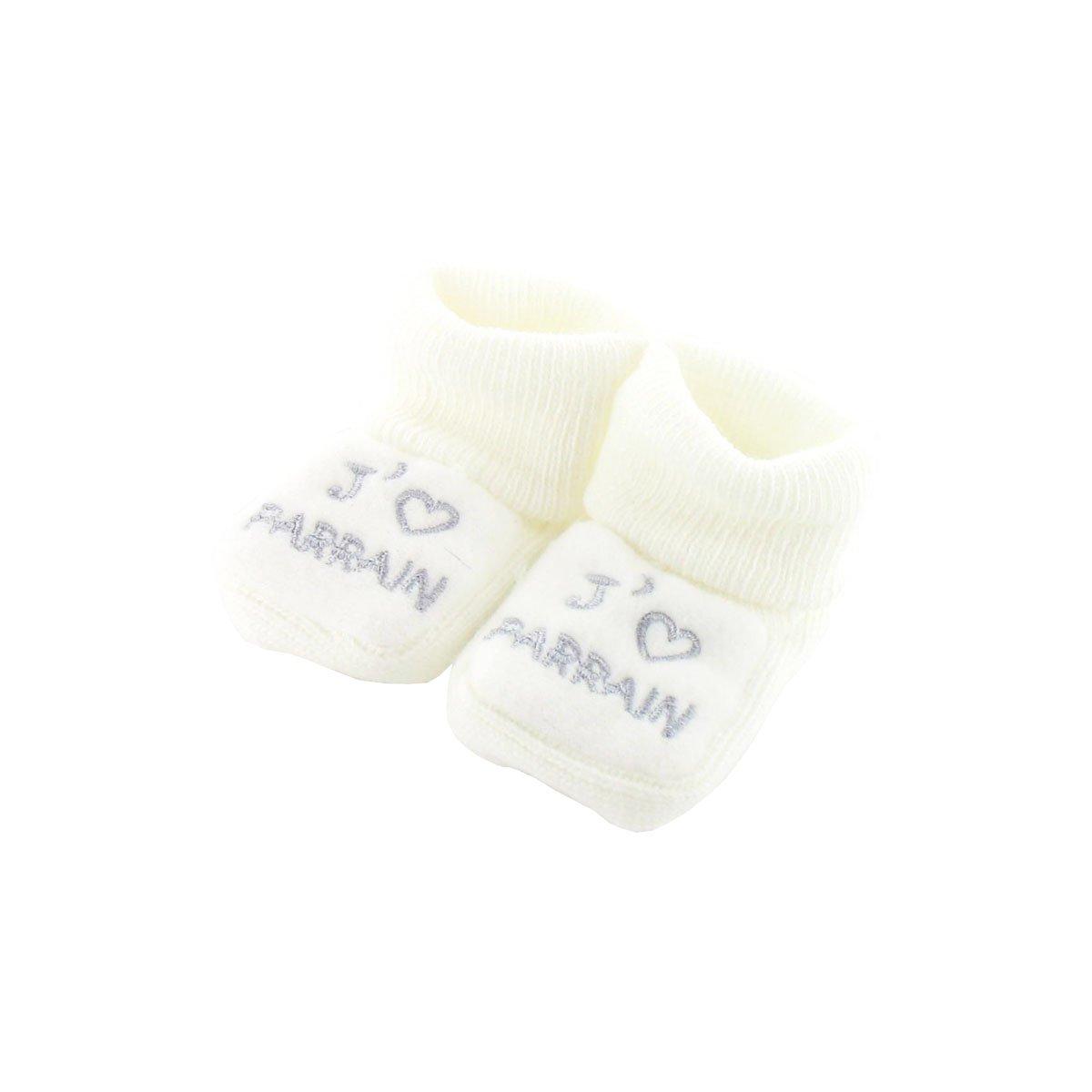 Chaussons pour bébé 0 à 3 Mois blanc - J'aime tata 1PRyg