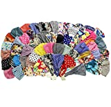 Set of 12 Fun Colored Wide Headbands by CoverYourHair (12 Assorted Wide Headbands)