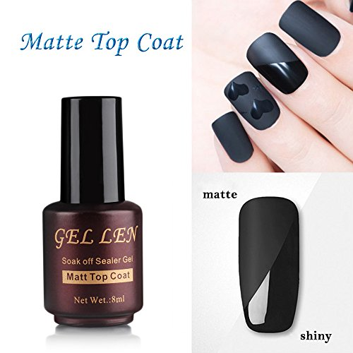 matte coat gel nail polish