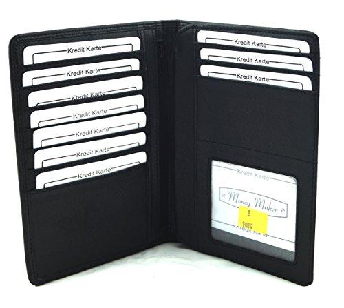 Kartenetui Brieftasche Ausweishülle Money Maker Echt Leder 9030B