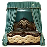 Large Size Mosquito Net,Bed Canopy for Girls,Lightweight Premium Bed Drapes,4 Corners Lightproof Curtain for Beds Cribs-Green Twinch2