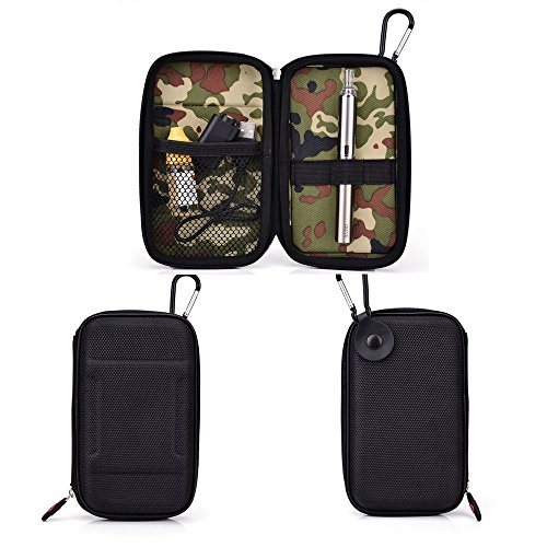 - Vape & Mod Portable Travel Case Compatible with Kanger EVOD 2 |Semi-Hard Protective Shell with Standing Capability & Carabiner Hook for Easy Attachment|Slim Black & Camo Interior
