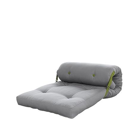 KARUP Roller futón Silla, Cottone/Poliéster, Gris 746/Lima 733, 120
